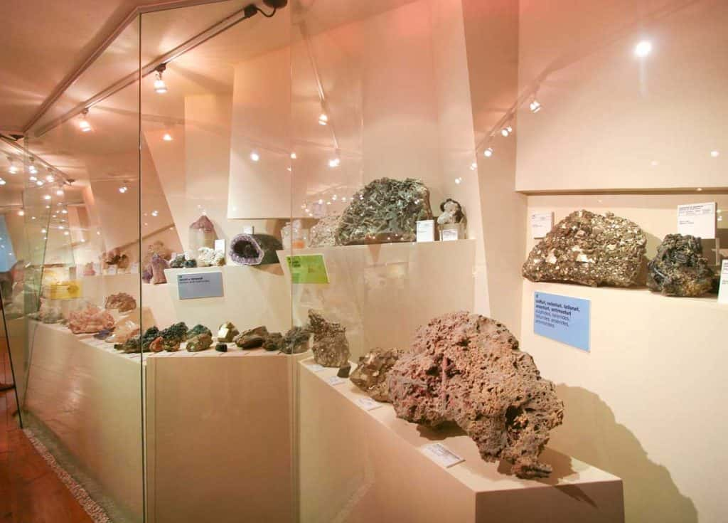 Teca con minerali estratti dalla miniera di Perticara