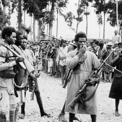 foto storica con militari etiopi