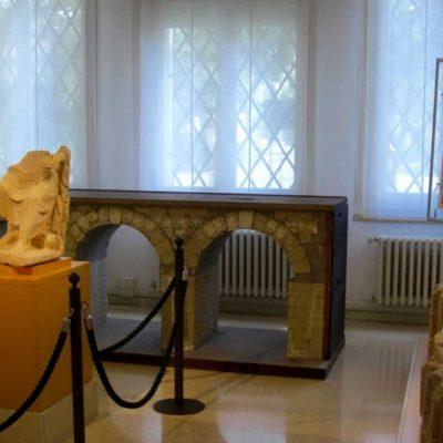 sala con ricostruzione del ponte romano